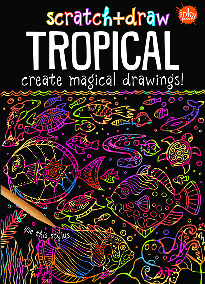 Scratch & Draw Tropical
