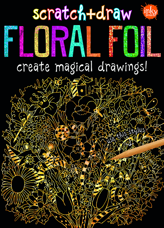 Scratch and Draw Floral Foil