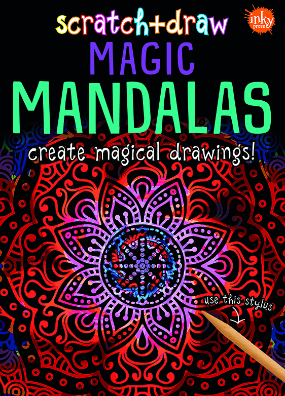 Scratch and Draw Magic Mandalas