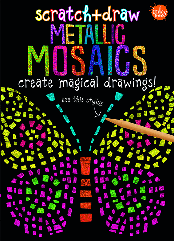 Scratch and Draw Metallic Mosaics