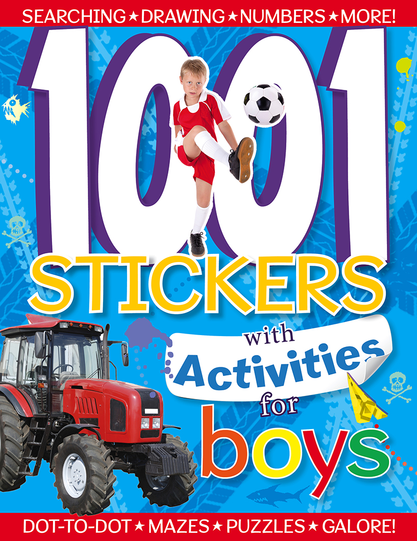 1001 Stickers with Activities for Boys