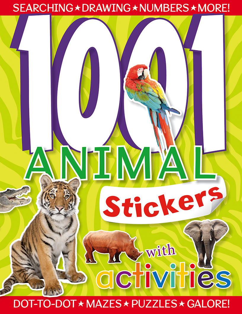1001 Stickers with Activities Animals