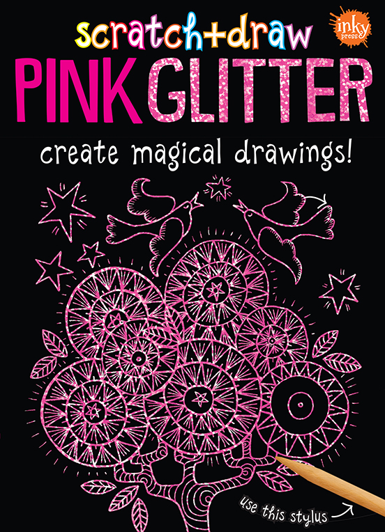 Scratch and Draw Pink Glitter