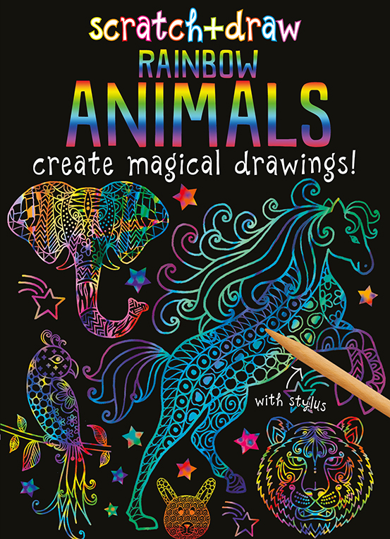 Scratch and Draw Rainbow Animals
