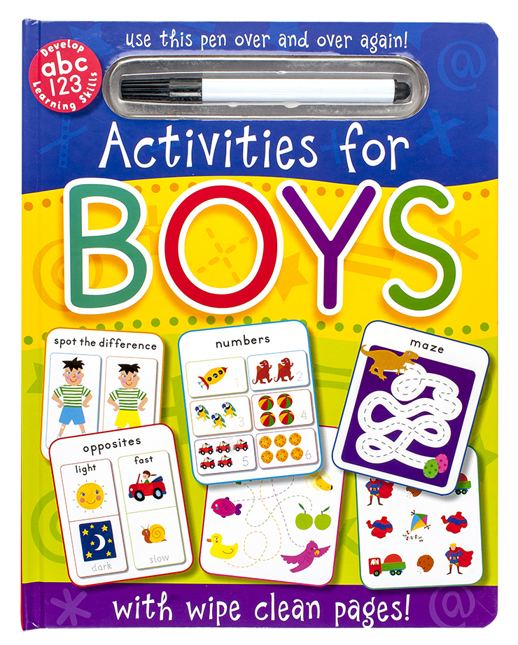 Wipeclean Activities for Boys