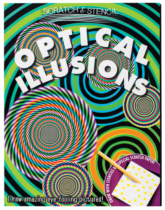 Scratch and Stencil Optical Illusions